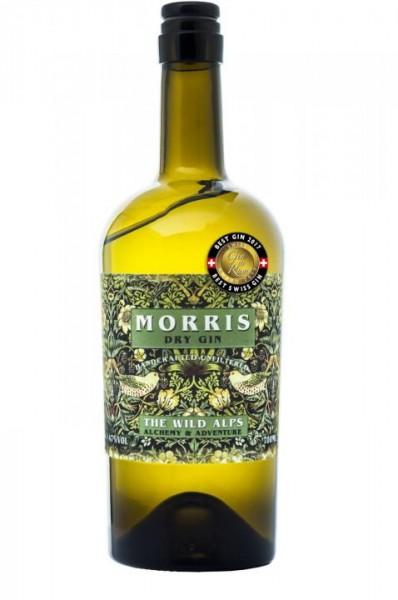 The Wild Alps MORRIS London Dry Gin in Velvet Sachet 75 cl / 47 % Schweiz