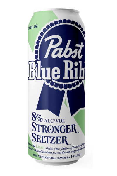 Pabst Blue Ribbon Stronger Hard Seltzer LIME 470 ml / 8 % USA