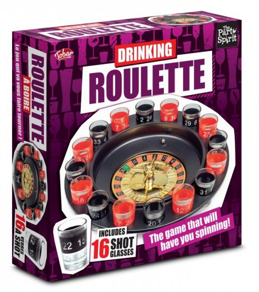 Trinkspiel Roulette mit 16 Gläsern by out of the Blue