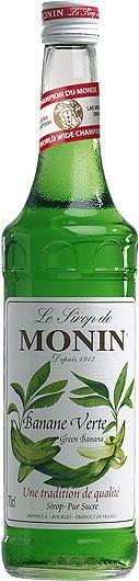 MONIN Premium Banane Verte / Green Banana Sirup 70 cl Frankreich