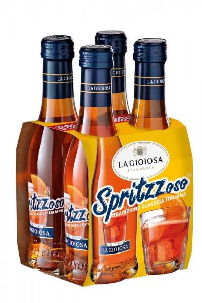 La Gioiosa SPRITZZoso Aperitiv Glasflasche Kiste 24 x 200 ml / 7 % Italien