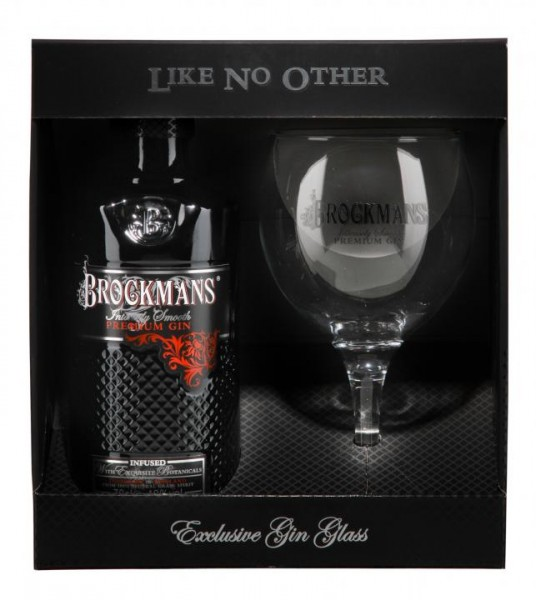BROCKMANS Premium Gin Set with Glas 70 cl / 40 % UK