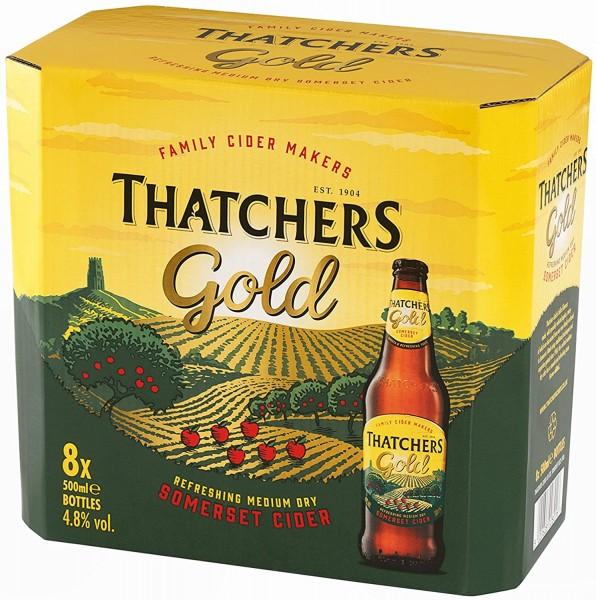 Thatchers Gold Cider Kiste 12 x 500 ml / 4.5 % UK