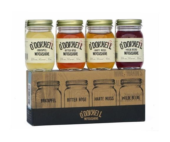 O' DONNELL MOONSHINE Set Mini Jars – Die 4 Liköre 4 x 50 ml / 23 % Deutschland