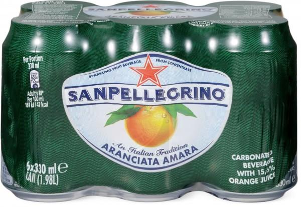SanPellegrino L'Amara Kiste 24 x 330 ml Italien