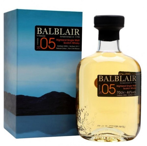 BALBLAIR Vintage 2005 - 1 st Release Highland Single Malt Scotch Whisky 70 cl / 46 % Schottland