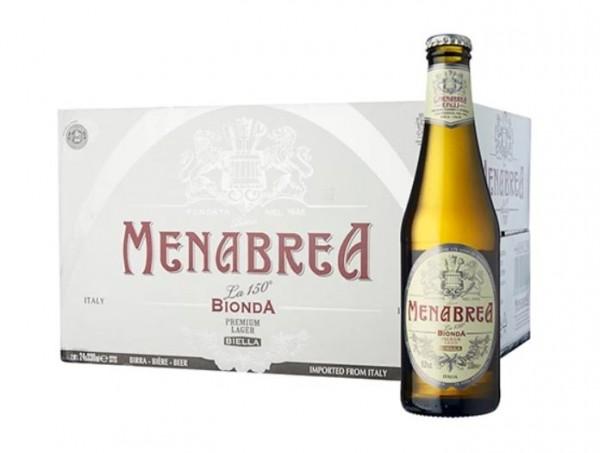 MENABREA BIONDA - LAGER CAse 24 x 330 ml / 4.8 % Italien