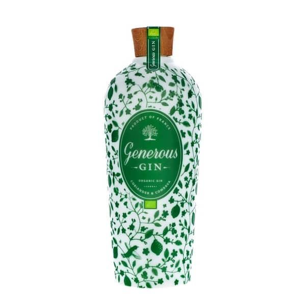 GENEROUS ORGANIC Coriander & Combava Gin 70 cl / 44 % Frankreich