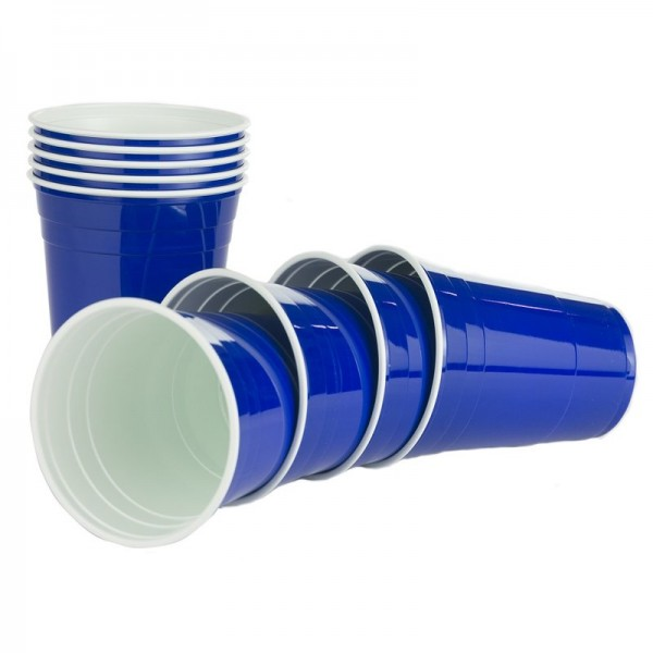Solo BLUE Cups 16 oz - Beer Pong Becher Stange a 50 Stk. x 16 oz / 473 ml USA