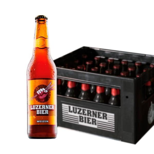 LUZERNER Bier WEIZEN Kiste 20 x 500 ml / 5.2 % Schweiz