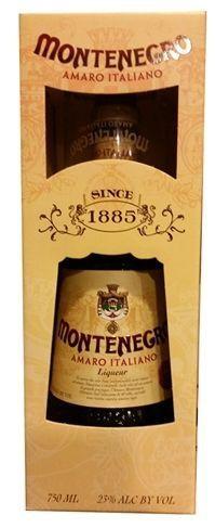 Amaro MONTENEGRO Kräuter Likör SET mit Glas 70 cl / 23 % Italien