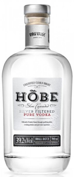 HÕBE Silver Filtred Pure Vodka 70 cl / 39.2 % Estland