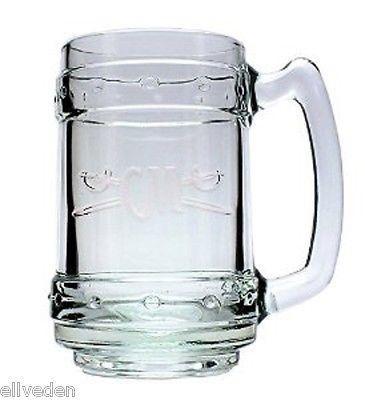 Captain Morgen MUG Glas Massive Ausführung mit Logo
