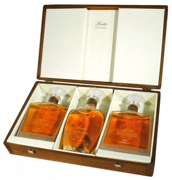 Grappa Berta Set 3 x 70 cl / 45 % Italien