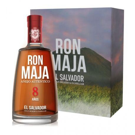 RON MAJA Cran Reserva Familiar 8 Anos Box mit 2 Gläser 70 cl / 40 % El Salvador