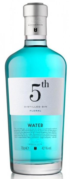 GIN 5 th WATER Floral Distilled Gin 70 cl / 42 % Spanien