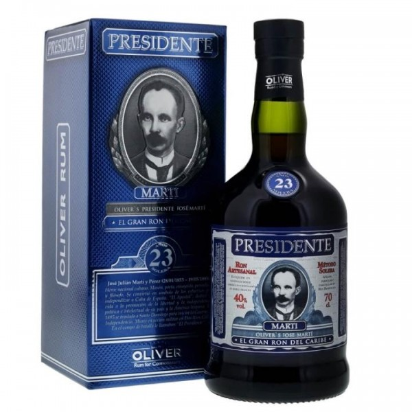 PRESIDENTE Marti Rum 23 Years Solera 75 cl / 40 % Dom. Rep.