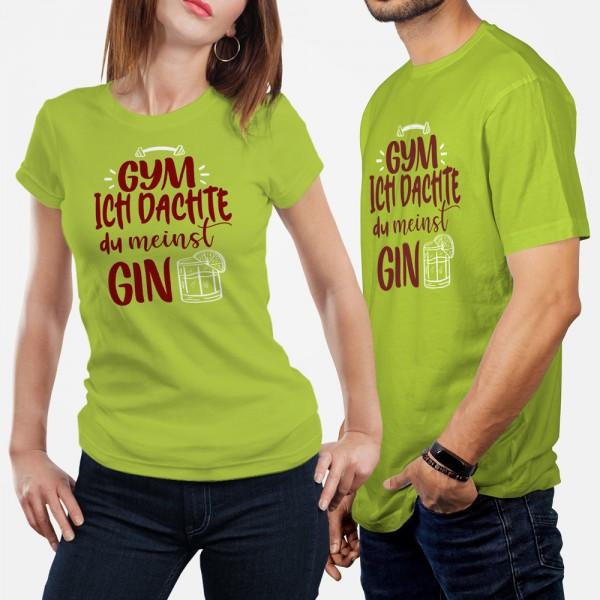 ShirtStar Premium GYM - GIN T-Shirt HERREN Lime div. Grössen