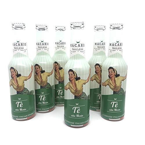 Macario Tè alla MENTA Retro Drink Kiste 24 x 275 ml Italien