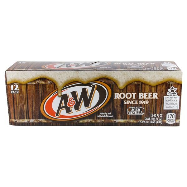A&W Root Beer Case 24 x 355 ml USA