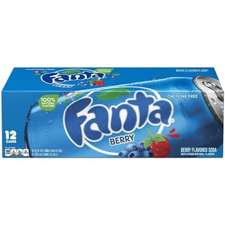 Fanta Berry Case 24 x 355 ml USA