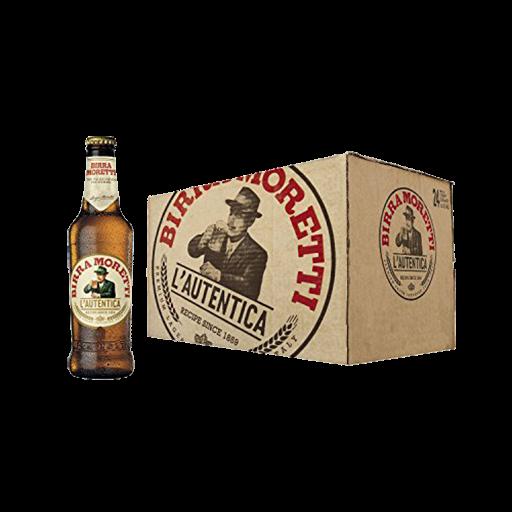Birra MORETTI Premium Lager Kiste 24 x 330 ml / 4.6 % Italien