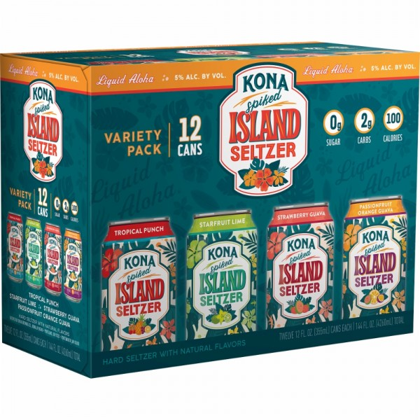 Kona Island Hard Seltzer Variety Pack 24 x 355 ml / 5 % Hawaii
