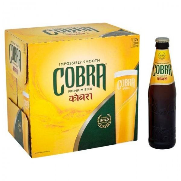 COBRA Lager Bier Case 24 x 330 ml / 5 % Indien