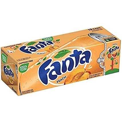 Fanta Peach Kiste 24 x 355 ml USA