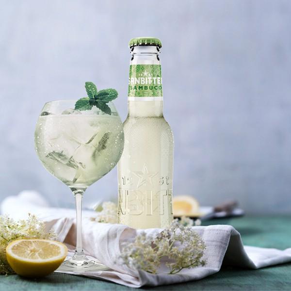 Sanpellegrino Sanbitter SAMBUCO Glasflasche 200 ml Italien