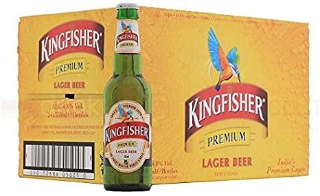KINGFISHER Premium Lager Bier 24 x 330 ml / 4.8 % Indien