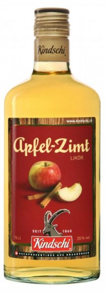 Bündner APFEL-ZIMT Likör 70 cl / 20 % Schweiz