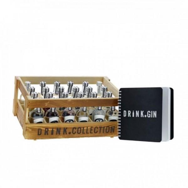 GINKALENDER mit 24 Fläschchen a 5 cl mit verschiedenen Premium GIN'S 40 %