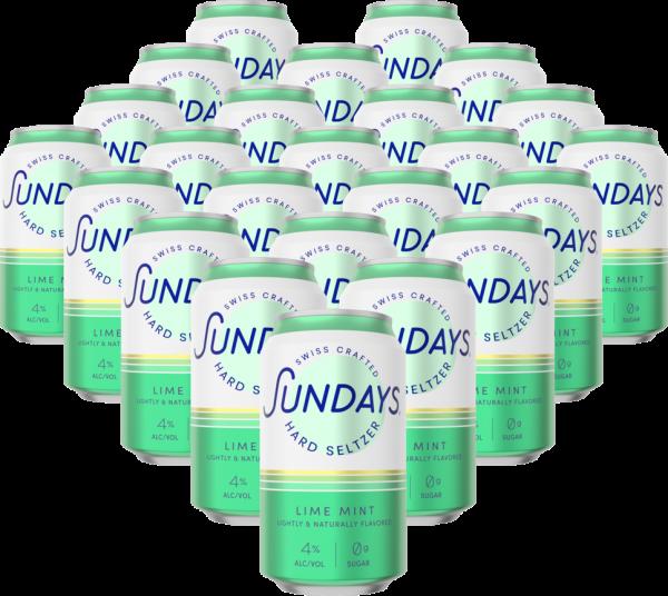 Sundays Hard Seltzer LIME MINT DOSE Kiste 24 x 330 ml / 4 % Schweiz