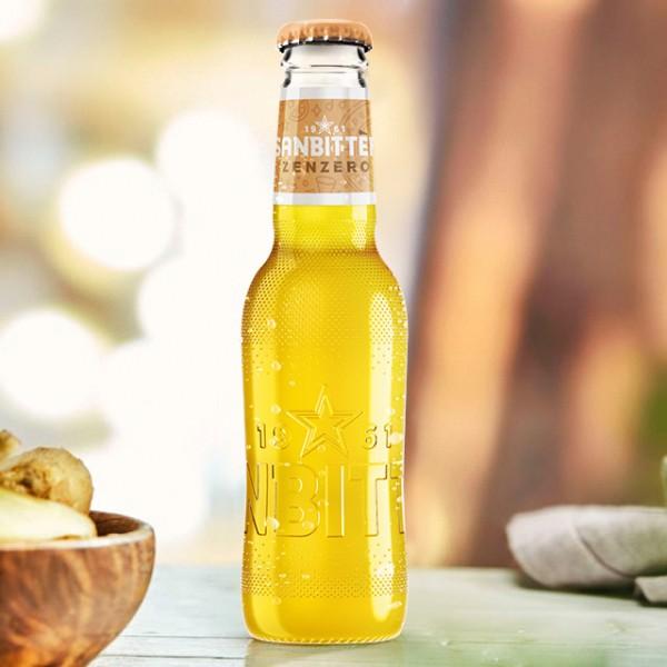 Sanpellegrino Sanbitter ZENZERO - Ingwer Glasflasche 200 ml Italien