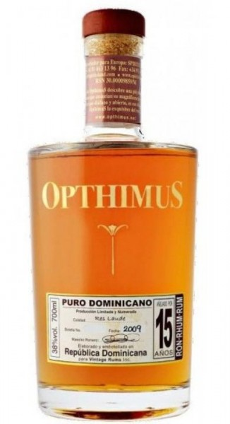 Opthimus Rum 15 Jahre 70 cl / 38 % Dominikanische Republik