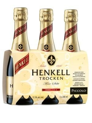 HENKELL Trocken Sekt - Sparkling Wine 3 er SET - PICCOLO 3 x 20 cl / 11.5 % Deutschland
