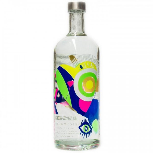 Absolut Vodka Special Edition PEACE 4 ALL Travallers Edition 2018 - 100 cl / 40 % Schweden