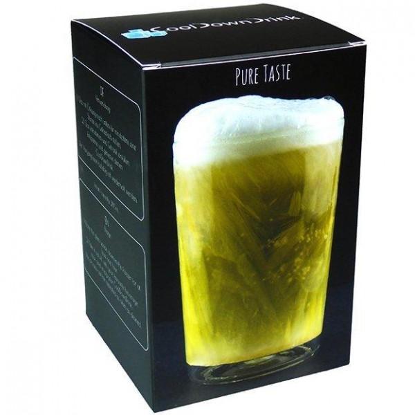 CoolDownDrink glass BIG 280 ml content Handmade Switzerland