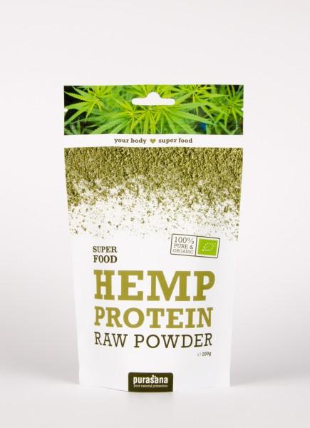 Purasana Superfood HEMP PROTEIN Raw Powder 200 Gramm