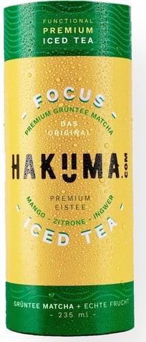 HAKUMA FOCUS Premium GRÜNTEE in CartoCan 235 ml Österreich