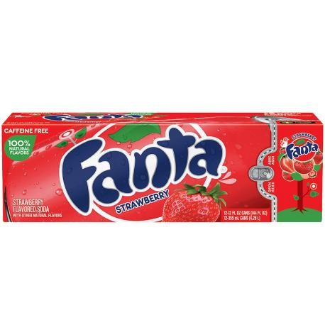 Fanta Strawberry Kiste 24 x 355 ml USA