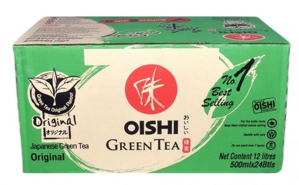 Oishi Grüntee Original Kiste 24 x 500 ml PET Thailand