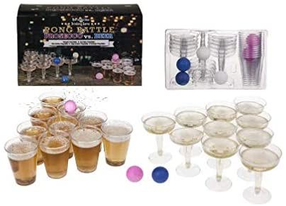Drinking game PONG BATTLE with 24 cups & 4 balls by Out of the blue