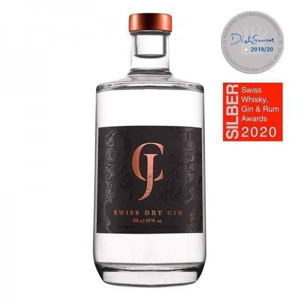 JC - SWISS DRY GIN 50 cl / 43 % Schweiz