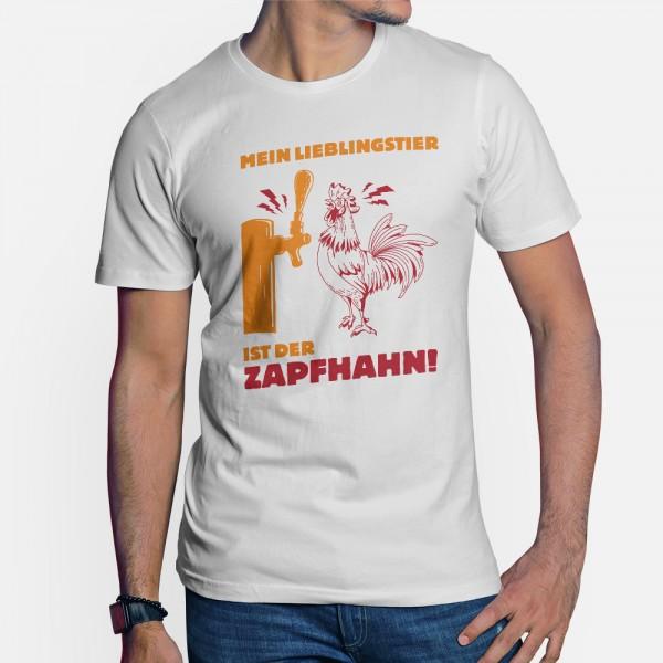 ShirtStar Premium ZAPFHAHN T-Shirt Men White div. sizes