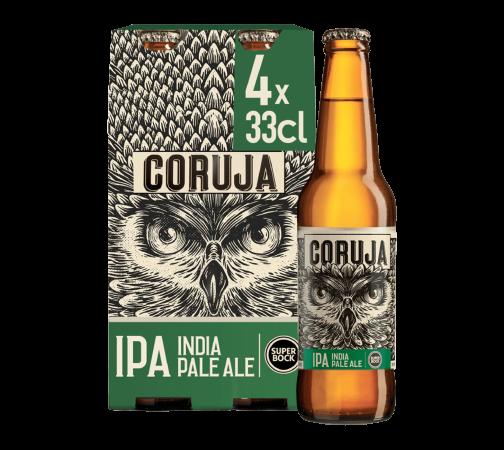 Super Bock CORUJA IPA Bier Kiste 24 x 330 ml / 6 % Portugal