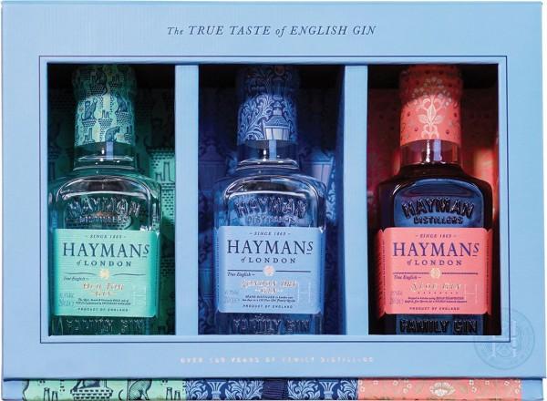 HAYMAN'S Gift Pack 3 x 20 cl / 36.2 % UK