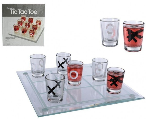 Trinkspiel TIC TAC TOE mit 9 Gläsern by out of the blue
