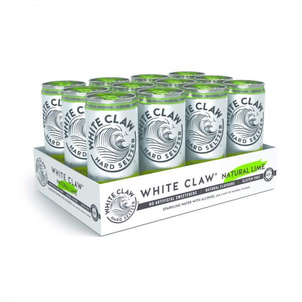 White Claw HARD SELTZER NATURAL LIME Kiste 24 x 330 ml / 4.5 % EU